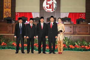 Audy Wongkar Dilantik Jadi Anggota DPRD Sulut dapil Nusa Utara