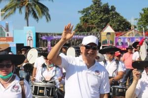 Wali Kota Tomohon  Jimmy F Eman SE Ak dalam kegiatan 84 Tahun GMIM Bersinode