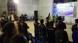 Ibadah pelantikan Pengurus P/KB Rayon Tomohon dan panji Yosua Wilayah Tomohon Empat