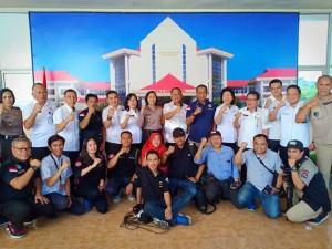 Tim Humas Polri dan Jajaran pemerintah Kota Tomohon