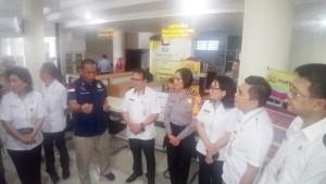 Kunjungan Humas Polri di Mal Pelayanan Publik Kota Tomohon