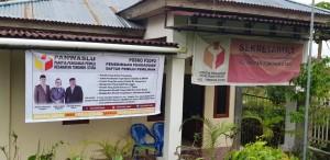 Posko Penerimaan Pengaduan Daftar Pemilih Pemilihan  Panwaslu Tomohon Utara