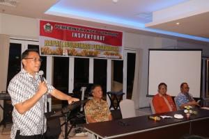 Wali Kota Tomohon JImmy F Eman SE Ak membawakan sambutan