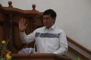 Medsos , Ujaran Kedamaian, GS Vicky Lumentut , GMIM Bukit Kalvari Karombasan,