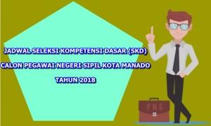 Seleksi CPNS Kota Manado, CPNS Kota Manado 2018, jam tes CPNS Kota Manado, skd CPNS Kota Manado,