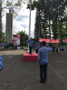 Sekda Minahasa Pimpin Upacara Hari Guru dan HUT Korpri ke-47 Tahun