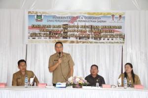 Wali Kota Tomohon membuka kegiatan pelatihan