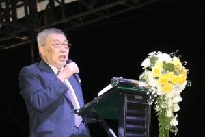 Pdt Dr KAM Yusuf Roni saat memimpin Ibadah KPI di Kota Tomohon