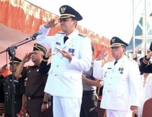 Pimpin Upacara HUT Minahasa ke-590, ROR: Integritas dan Loyalitas Modal Meraih Prestasi