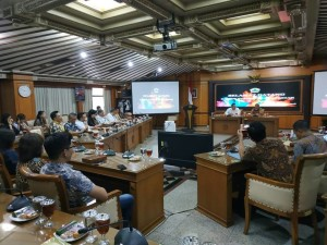 Wali Kota Tomohon dan TAPD saat diterima Pemerintah Provinsi Jawa Tengah