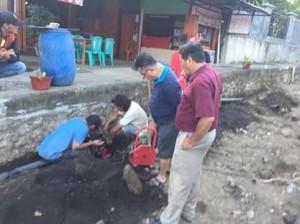 Pipa Air , Pipa Air ratahan, PDAM Kabupaten Minahasa Tenggara , Meidy Uguy ST