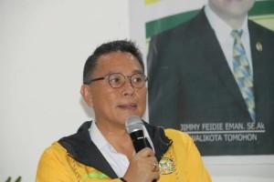 Wali Kota Tomohon Jimmy F Eman SE Ak  membuka kegiatan Bimtek