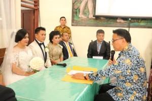 Wali Kota Tomohon Catat Pernikahan Gerard dan Norry