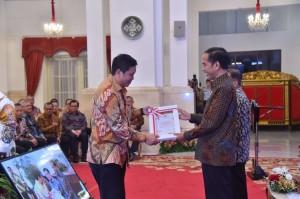 Wagub Kandouw Terima DIPA 2019 dari Presiden Jokowi