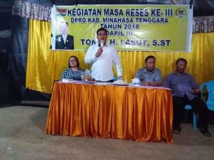 Serap Aspirasi, Tonny Lasut Siap Perjuangkan Jaringan Telekomunikasi di Desa Moreah