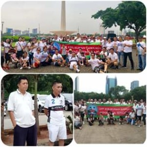 Dukung Program JS-JL, DPP KKMT se-Jabodetabek Gelar Jalan Sehat di Tugu Monas
