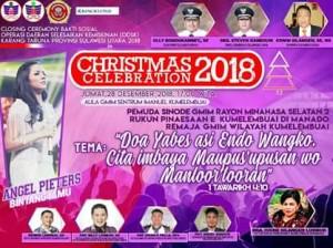 Bakal Dimeriahkan Angel Pieters, Hari Ini Christmas Celebration di GMIM Sentrum Imanuel Kumelembuai