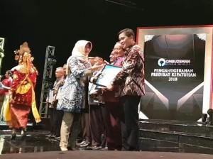 Pemprov Sulut Raih Penghargaan dari Ombudsman