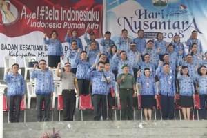 Wakili Bupati, Sekda Ngongoloy Irup Bela Negara dan Hari Nusantara 2018