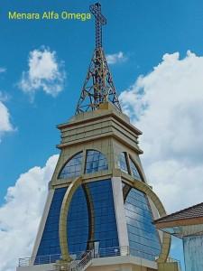 Menara Alfa Omega di Pusat Kota Tomohon