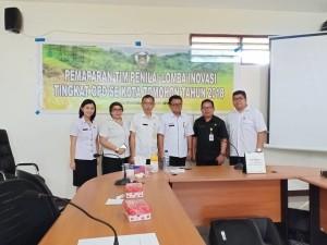 Tim bapelitbangda dan yang mewakili wali Kota Tomohon dalam Lomba Inovasi OPD
