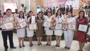 Penghargaan-penghargaan yang diterima Tomohon di HKN Provinsi Sulut Tahun 2018