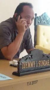 Sekretaris Komisi I DPRD Tomohon Djemy Sundah SE