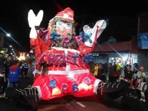 Salah satu peserta Tomohon Evening Christrmas Parade