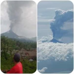 Gunung Soputan Erupsi, Gubernur Sulut Imbau Warga Waspada