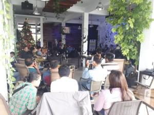 Suasana Dialog Pemerinmtah Kota Tomohon dengan para wartawan