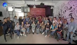 Para Wartawan Tomohon dan kadis Kominfo Kota Tomohon