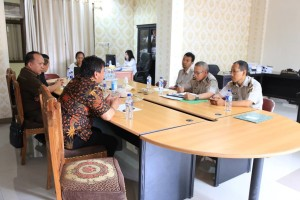 Komisi I DPRD Tomohon-Badan Pertanahan Bahas PTSL