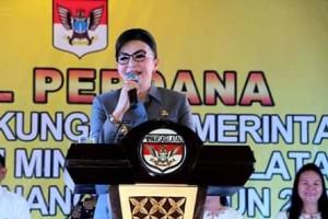 Apel Perdana 2019, Bupati Minsel,  Christiany Eugenia Paruntu