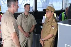 Kapal Militer Pengangkut Logistik, USNS Brunswick,  Ir. Royke Oktavian Roring,  Captain Adam Streeper
