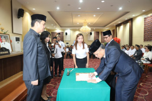 Sertijab Kepala Kanwil Kemenkumham Sulut, Efendy B. Peranginangin Gantikan Murdjito Sasto