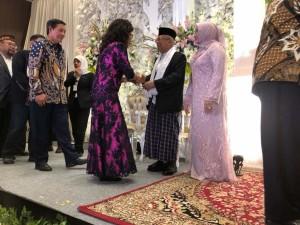 GSVL Bersama Isteri Hadiri Pernikahan Anak KH Ma'ruf Amin di Bogor