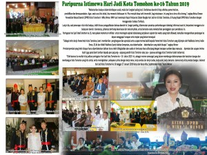 Rapat Paripurna Istimewa DPRD HUT ke-16 Kota Tomohon