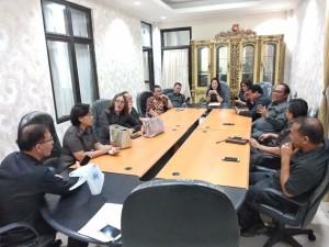 Senator SBANL saat melakukan kunjungan kerja di DPRD Tomohon