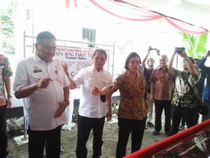 Olly Dampingi Menkeu dan Menkominfo Uji Coba Palapa Ring Paket Tengah di Sangihe