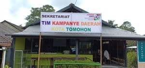 Tim Pemenangan Jokowi-Ma'ruf Tomohon Gelar Noreng Debat Capres di Cafe Bakusedu