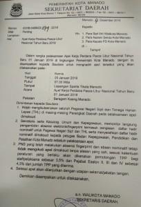 Kamis Besok, Pemkot Manado Gelar Apel Kerja Perdana Pasca Libur Nasional