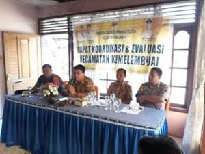 Kecamatan Kumelembuai Laksanakan Rakor Perdana di tahun 2019