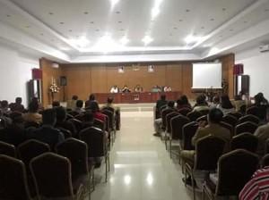 Denny Mangalah Pimpin Rapat Panitia Persiapan HUT Kota Tondano