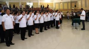 Olly Lantik dan Kukuhkan 213 Pejabat Struktural Pemprov Sulut