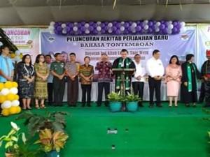 Sukses Peluncuran Alkitab Perjanjian Baru Bahasa Tontemboan