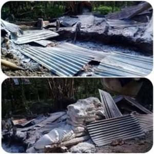Dua Kelompok Penambang Rakyat di Hutan Haiz Soyowan Saling Bakar Daseng
