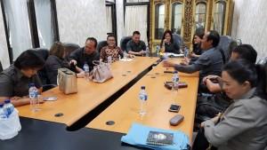 Senator SBANL menerima aspirasi dari para anggota DPRD