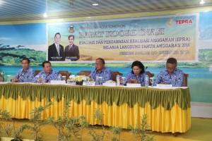 Sekretaris Kota Ir harold V Lolowang MSc MTh memimpin rapat
