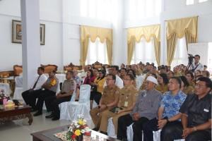 jajaran pemerintah, tokoh agama, tokoh masyarakat dan stakeholder lainnya yang hadir dalam kunjungan Kapo;da Sulut