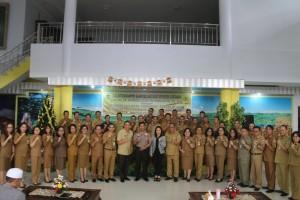 Kapolda Sulut bersama jajaran Pemerintah Kota Tomohon